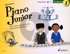 Heumann Piano Junior: Duettbuch 1 (Die kreative und interaktive Klavierschule für Kinder) (Book with Audio online) (german edition)
