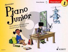 Heumann Piano Junior: Theoriebuch 1 (Book with Audio online) (german edition)