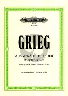 Grieg 60 Ausgewahlte Lieder Mittlere Stimme und Klavier