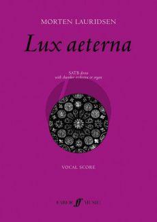 Lauridsen Lux Aeterna SATB-Organ