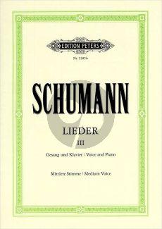 Schumann Lieder vol.3 (Mittel-Tief) (Nach den Handschriften und Erstdrucken) (Max Friedlaender)