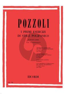 Pozzoli I Primi Esercizi di stile Polifonico (First Exercises Polyphonic Styles) for Piano