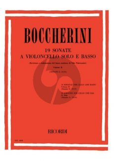 Boccherini 19 Sonatas Vol.2 (G. 10 - 19) (Vita Paternoster)