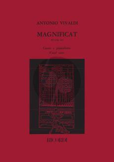Vivaldi Magnificat RV 610a/610 SSAT soli-SATB/SATB-Piano Vocal Score