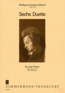 Mozart 6 Duette Vol.2 (KV Anh.157) 2 Flöten (Wehsener)