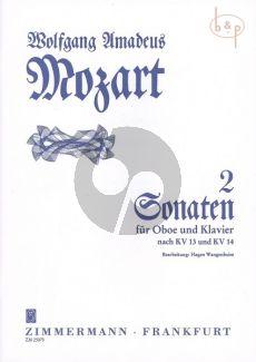 2 Sonatas KV 13 - 14 (C-major/F-major) Oboe and Piano