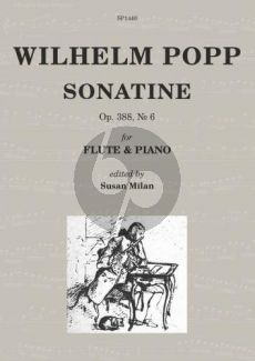 Popp Sonatine Op.388 No.6 Flute-Piano (edited by Susan Milan)