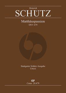Schutz Matthaeus Passion SWV 479 (Solovoices-SATB)