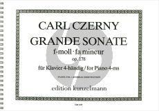 Czerny Grande Sonate f-moll Op.178 Klavier 4 Hd. (ed. Yaara Tal, Andreas Groethuysen)