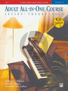 Alfred Basic Adult All-in-One Course Level 2 (Lesson, Theory and Solo Book)