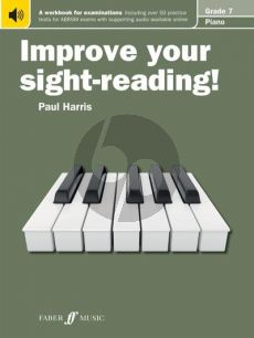Harris Improve your Sight-Reading Piano Grade 7 (A Workbook for Examinations) (Book with Audio online)