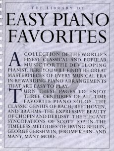 Album The Library of Easy Piano Favorites (A collection of the world's finest classical, ragtime, popular and folk music in easy-to-play piano arrangements)