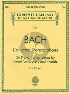 Bach Collected Transcriptions piano