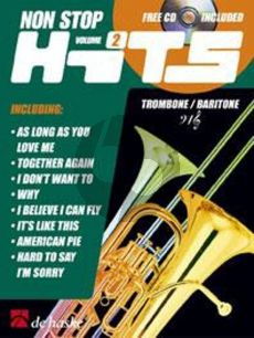 Non Stop Hits Vol.2 Trombone (Baritone TC/BC) (Bk-Cd) (Geusebroek-Kastelein)