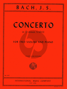 Bach Concerto d-minor BWV 1043 2 Violins-Piano (Galamian)