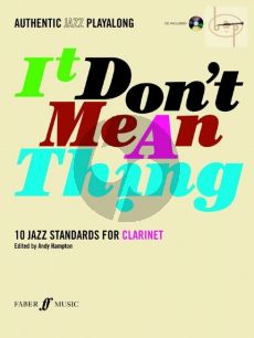 It Don't Mean a Thing for Clarinet (10 Jazz Standards) (Bk-CD)