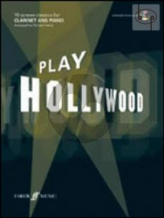 Play Hollywood (Clarinet) (Bk-Cd) CD with full backing tracks and a printable piano part as a PDF)