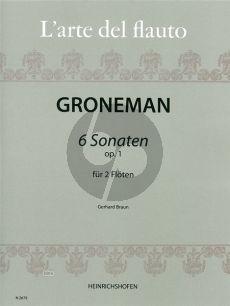 Gronemann 6 Sonaten Op.1 2 Flöten oder Violinen (Spielpartitur) (Gerhard Braun)