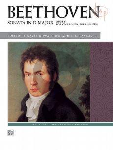 Sonata Op.6 D-major Piano 4 hds.