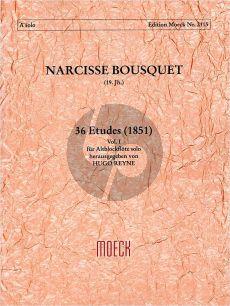 Bousquet 36 Etuden Vol.1 (No.1 - 12) Altblockflöte (1851) (Reyne)