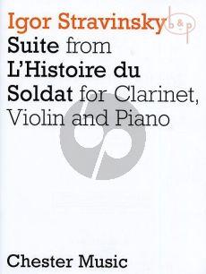 Suite from L'Histoire de Soldat Clarinet (A)-Violin and Piano