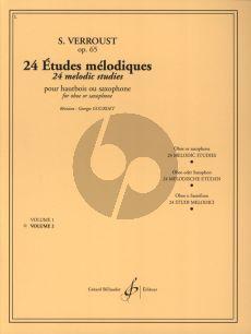 Verroust 24 Etudes Melodiques Op. 65 Vol. 2 pour Hautbois ou Saxophone