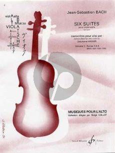 Bach 6 Suites Vol.1 (BWV 1007-1008-1009) (original pour Violoncelle transcrites pour Alto par Stephane Wiener)