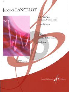 Lancelot 21 Etudes Clarinet (Element.) (Suite aux 20 Etudes Faciles)
