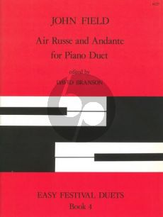 Field Air Russe and Andante Piano 4 hds (edited by David Branson)