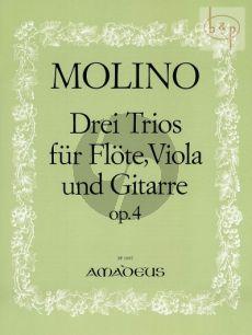 Molino 3 Trios Op.4 Flute-Viola-Guitar (Parts) (edited by Bernhard Pauler)