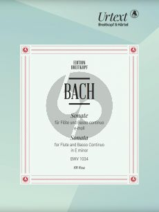 Bach Sonate e-moll BWV 1034 Flote und Cembalo[Klavier] (edited by Barthold Kuijken)