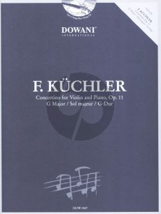 Kuchler Concertino G-major Op.11 Violin-Piano (Bk-Cd) (Dowani 3 Tempi Play-Along)