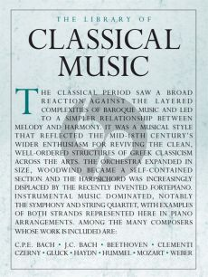 The Library Of Classical Music for Piano