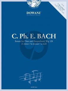 Bach Sonata a-moll Wq. 128 Flute-Bc (Bk-Cd) (Dowani)