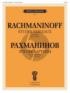 Rachmaninoff Etudes Tableaux Op.33 and Op.39 Piano Solo