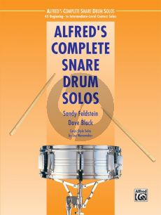 Alfred's Complete Snare Drum Solos (45 Beginning- to Intermediate-Level Contest Solos)