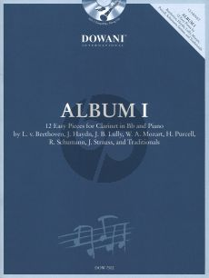 Dowani Album Vol.1 Clarinet (Easy) (Solo Part[Bb]-CD) (Dowani)