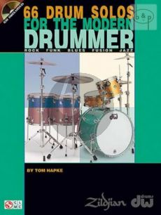 Hapke 66 Drum Solos for the Modern Drummer (Book with Audio online)