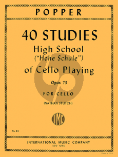 Popper High School of Cello Playing Op.73 (40 Studies) (Nathan Stutch)