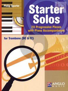 Starter Solos (20 Progressive Pieces) (Trombone with Piano Accomp.) (TC/BC)