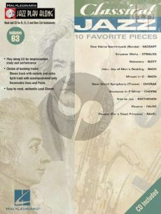 Classical Jazz (10 Favorite Pieces) (Jazz Play-Along Vol.63)