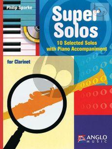 Super Solos Clarinet-Piano Bk-Cd (10 Selected Solos) (interm.-adv.)