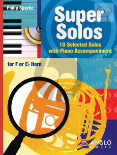 Sparke Super Solos for Horn (in F / Eb) and Piano (10 Selected Solos) (Bk-Cd) (interm.-adv.)