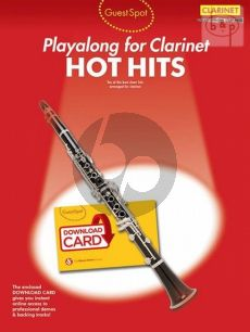 Guest Spot Hot Hits Playalong for Clarinet (Book with Download Card) (edited by Jenni Norey)