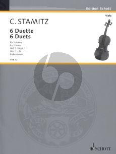 Stamitz 6 Duette Vol.1 (No.1 - 3) (edited by Walter Lebermann) (interm.level)