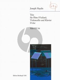 Trio D-major Hob.XV:16 (Flute[Vi.]-Vc.-Piano)