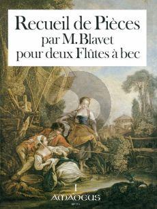 Blavet Recueil de Pieces Vol. 1 2 Altblockflöten (Petits Airs-Brunettes- Menuets avec des Doubles et Variations) (Winfried Michel mit Yvonne Morgan)