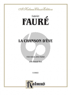 Faure La Chanson d'Eve Voice(Medium)-Piano (with French Text)
