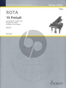 Nino Rota 15 preludi piano 4 hands (Bischof)