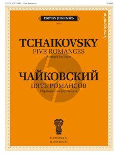 Tchaikovsky 5 Romances Piano solo (arr. B. Bekhterev)